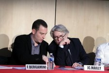 Franck Bergamini et Jean- Claude Mailly (Photo Robert Poulain)