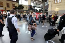 Gare Saint-Charles à Marseille ce matin (Photo Robert Poulain)